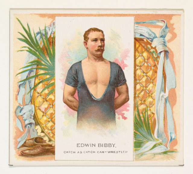 Edwin Bibby, Catch as Catch Can- Wrestler, from World's Champions, Second Series (N43) for Allen & Ginter Cigarettes