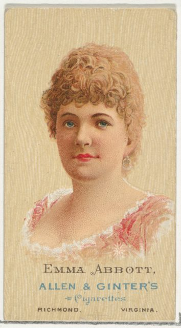 Emma Abbott, from World's Beauties, Series 2 (N27) for Allen & Ginter Cigarettes
