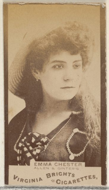 Emma Chester, from the Actors and Actresses series (N45, Type 3) for Virginia Brights Cigarettes