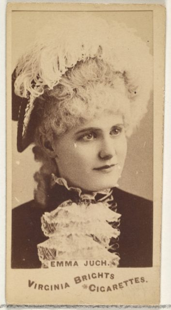 Emma Juch, from the Actors and Actresses series (N45, Type 1) for Virginia Brights Cigarettes