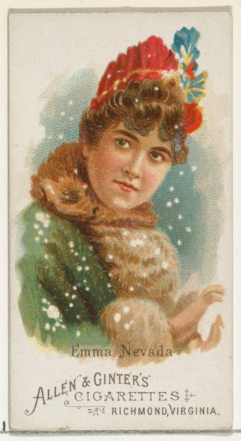 Emma Nevada, from World's Beauties, Series 1 (N26) for Allen & Ginter Cigarettes