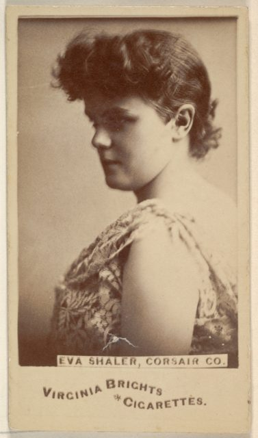 Eva Shaler, Corsair Co., from the Actors and Actresses series (N45, Type 6) for Virginia Brights Cigarettes