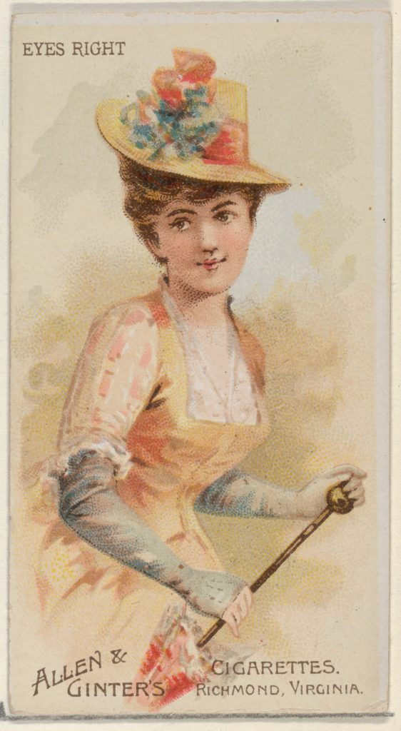 Eyes Right, from the Parasol Drills series (N18) for Allen & Ginter Cigarettes Brands