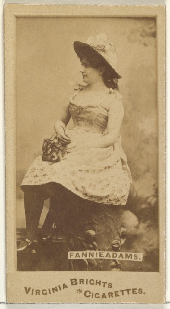 Fannie Adams, from the Actors and Actresses series (N45, Type 1) for Virginia Brights Cigarettes