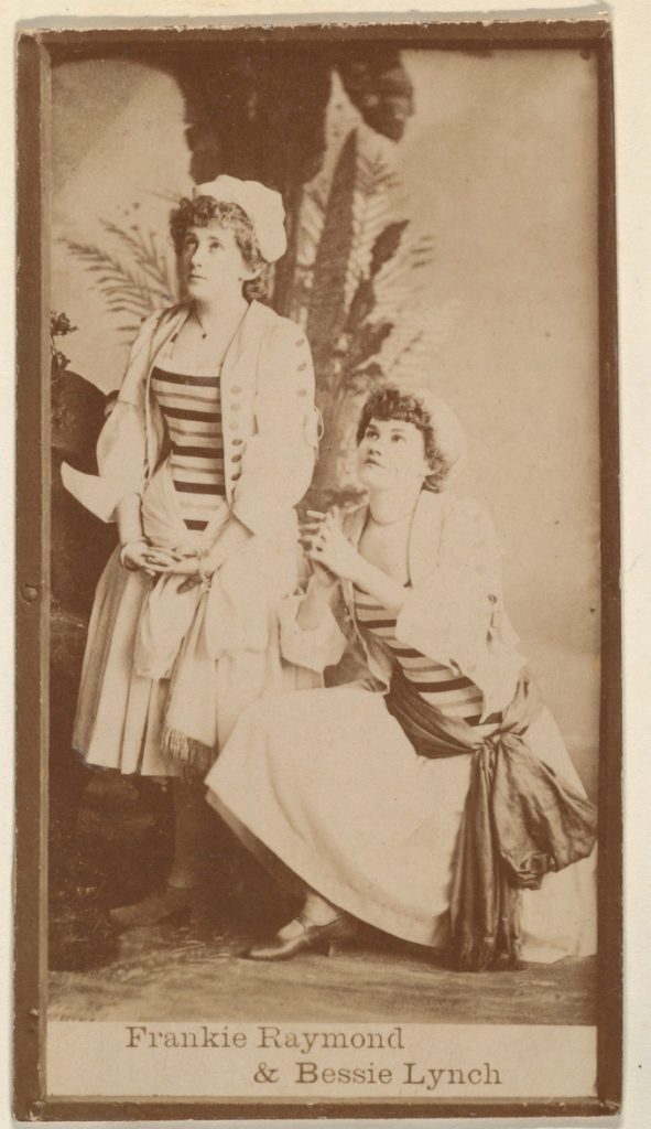 Frankie Raymond and Bessie Lynch, from the Actresses series (N668)