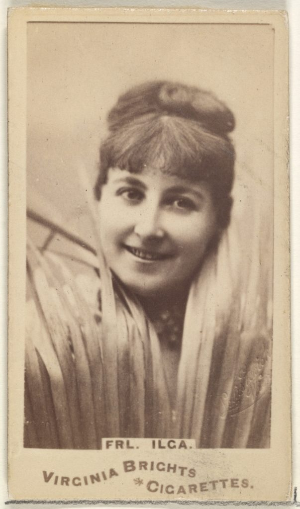 Fräulein Ilga, from the Actors and Actresses series (N45, Type 1) for Virginia Brights Cigarettes