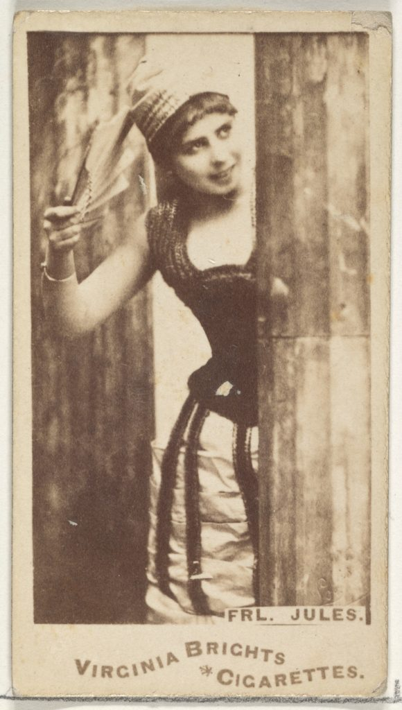 Fräulein Jules, from the Actors and Actresses series (N45, Type 1) for Virginia Brights Cigarettes
