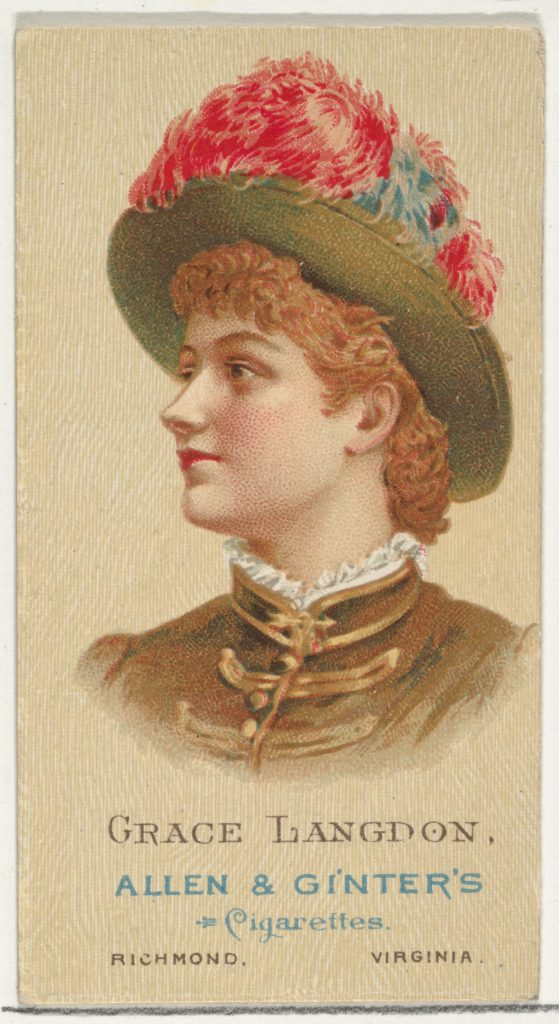 Grace Langdon, from World's Beauties, Series 2 (N27) for Allen & Ginter Cigarettes