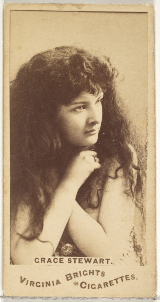Grace Stewart, from the Actors and Actresses series (N45, Type 1) for Virginia Brights Cigarettes