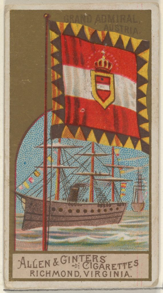 Grand Admiral, Austria, from the Naval Flags series (N17) for Allen & Ginter Cigarettes Brands