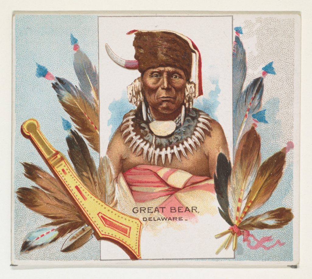 Great Bear, Delaware, from the American Indian Chiefs series (N36) for Allen & Ginter Cigarettes