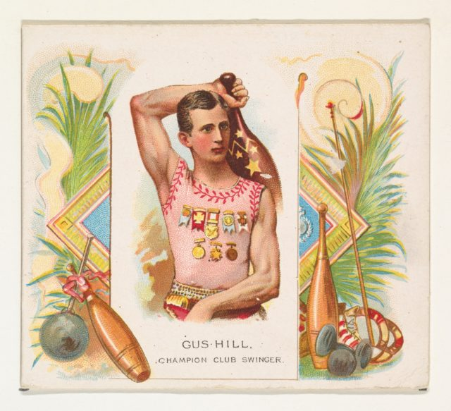 Gus Hill, Champion Club Swinger, from World's Champions, Second Series (N43) for Allen & Ginter Cigarettes