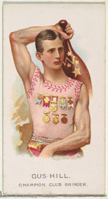 Gus Hill, Champion Club Swinger, from World's Champions, Series 2 (N29) for Allen & Ginter Cigarettes