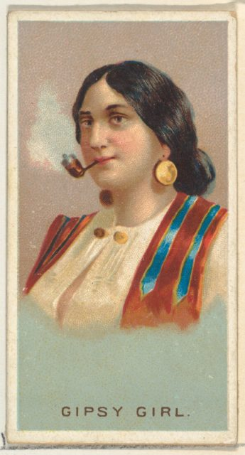Gypsy Girl, from World's Smokers series (N33) for Allen & Ginter Cigarettes