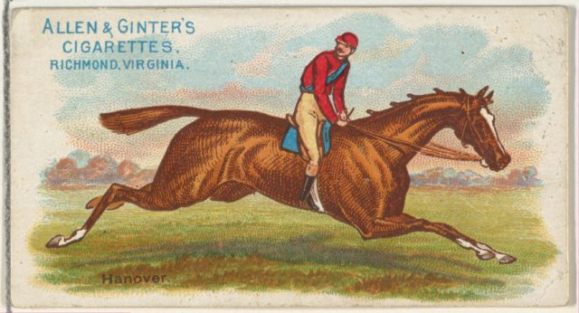 Hanover, from The World's Racers series (N32) for Allen & Ginter Cigarettes