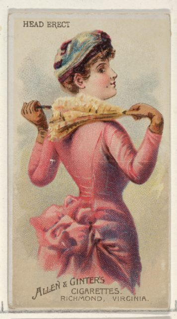 Head Erect, from the Parasol Drills series (N18) for Allen & Ginter Cigarettes Brands