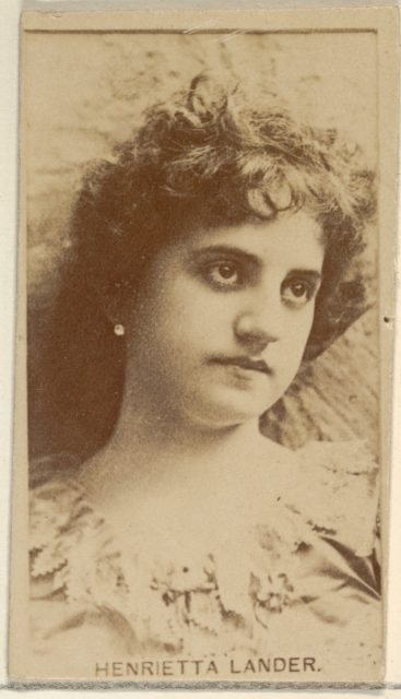 Henrietta Lander, from the Actors and Actresses series (N45, Type 8) for Virginia Brights Cigarettes