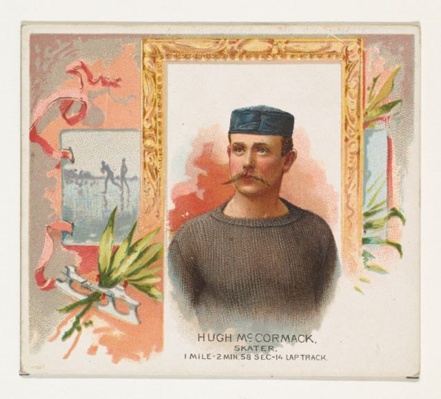 Hugh McCormack, Skater, from World's Champions, Second Series (N43) for Allen & Ginter Cigarettes