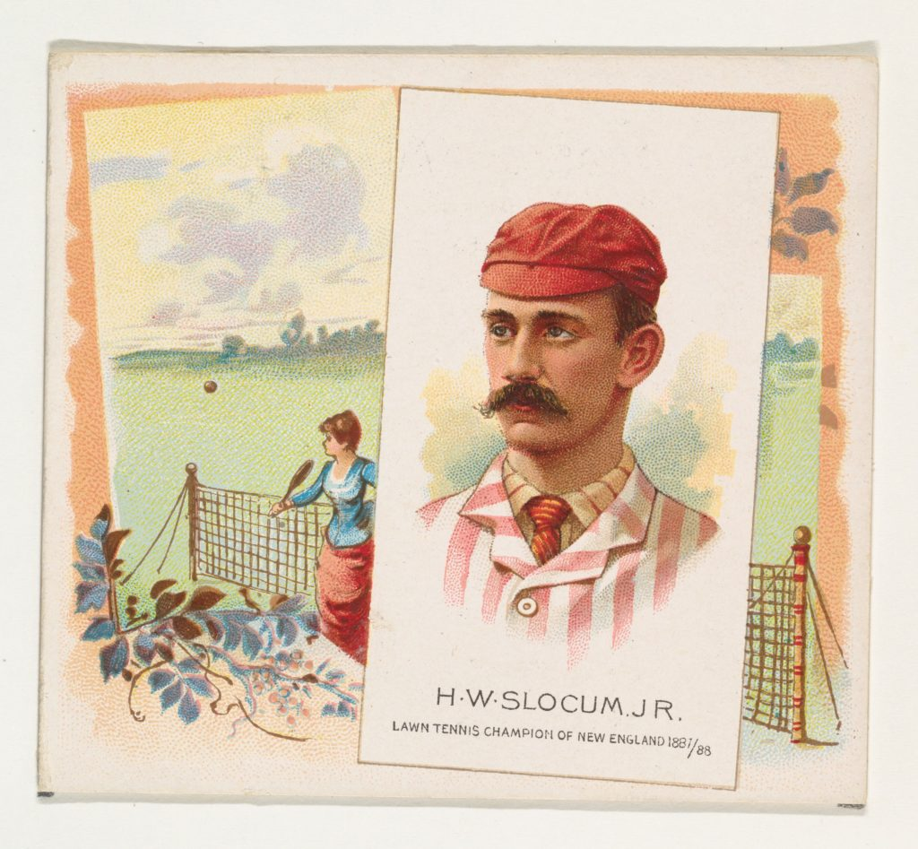 H.W. Slocum, Jr., Lawn Tennis Champion of New England 1887/88, from World's Champions, Second Series (N43) for Allen & Ginter Cigarettes