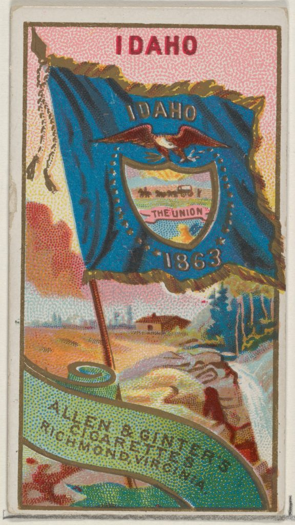 Idaho, from Flags of the States and Territories (N11) for Allen & Ginter Cigarettes Brands