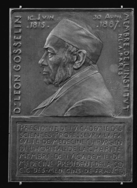 In Memory of Dr. Leon Gosselin (1815–1887), President of the Academy of Sciences