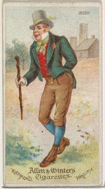 Irish, from World's Dudes series (N31) for Allen & Ginter Cigarettes