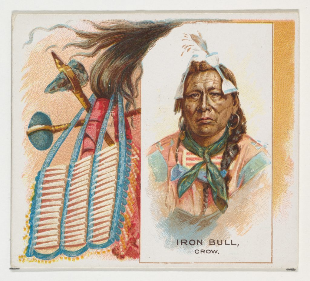 Iron Bull, Crow, from the American Indian Chiefs series (N36) for Allen & Ginter Cigarettes