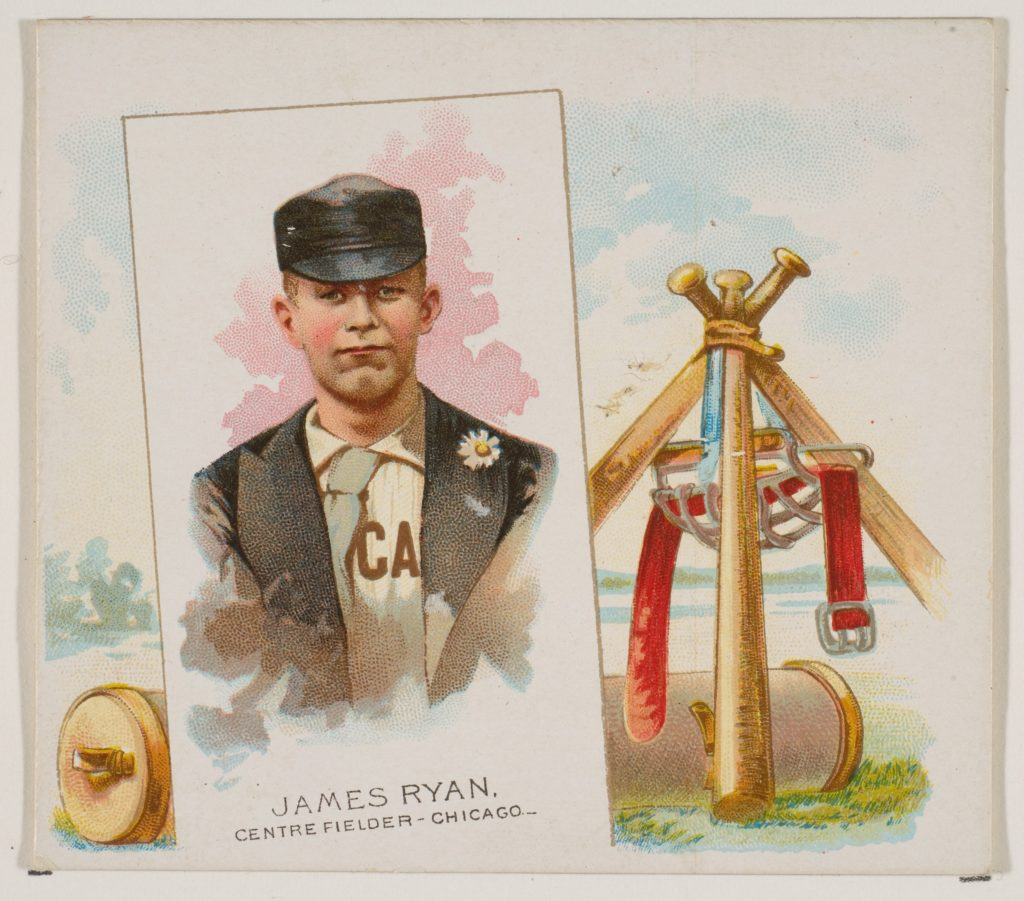James Ryan, Center Fielder, Chicago, from World's Champions, Second Series (N43) for Allen & Ginter Cigarettes