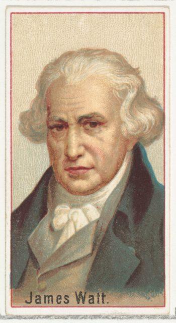 James Watt, printer's sample for the World's Inventors souvenir album (A25) for Allen & Ginter Cigarettes