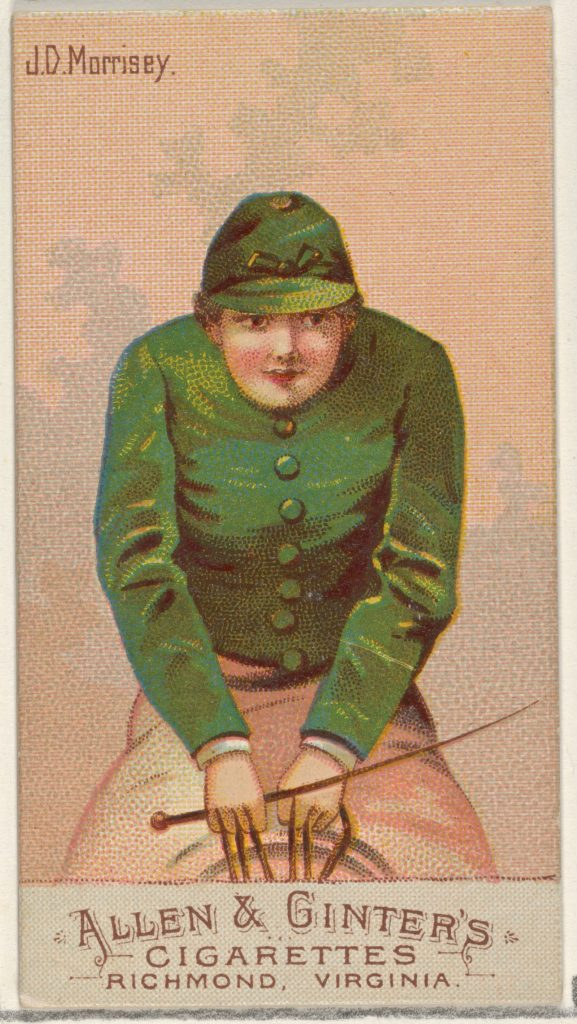 J.D. Morrisey, from the Racing Colors of the World series (N22b) for Allen & Ginter Cigarettes