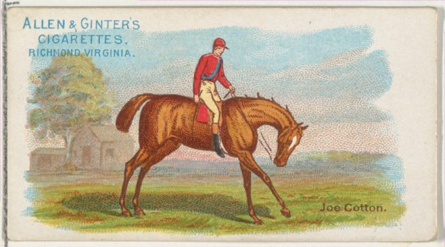 Joe Cotton, from The World's Racers series (N32) for Allen & Ginter Cigarettes