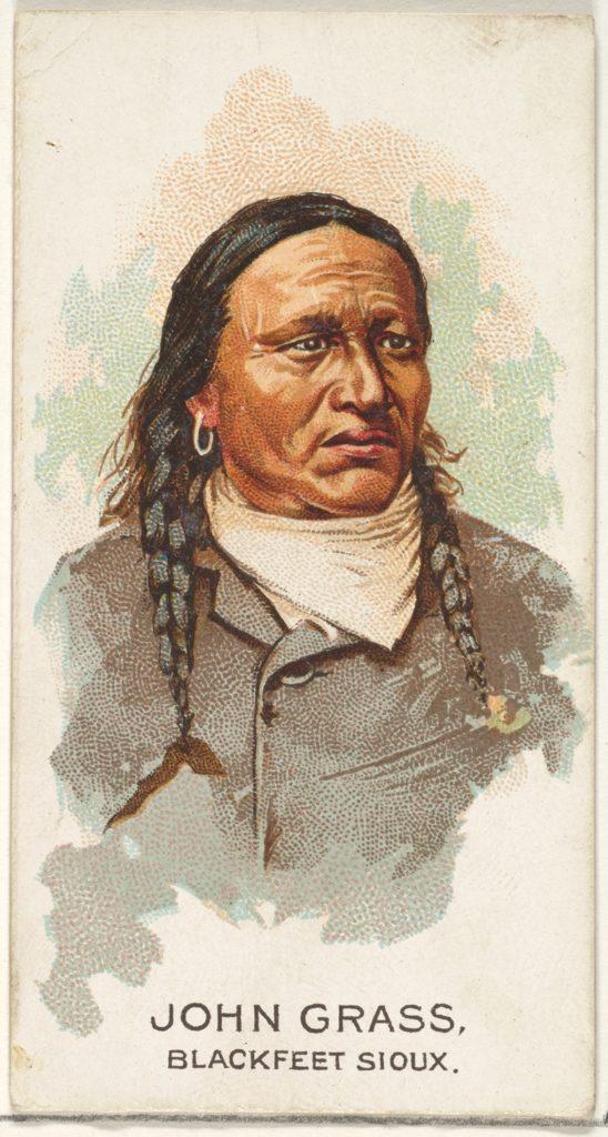 John Grass, Blackfeet Sioux, from the American Indian Chiefs series (N2) for Allen & Ginter Cigarettes Brands