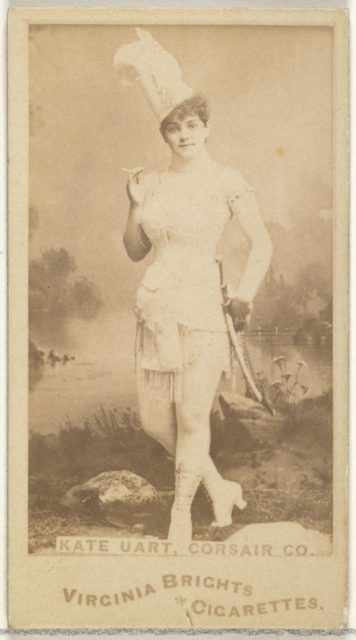 Kate Uart, Corsair Co., from the Actors and Actresses series (N45, Type 1) for Virginia Brights Cigarettes