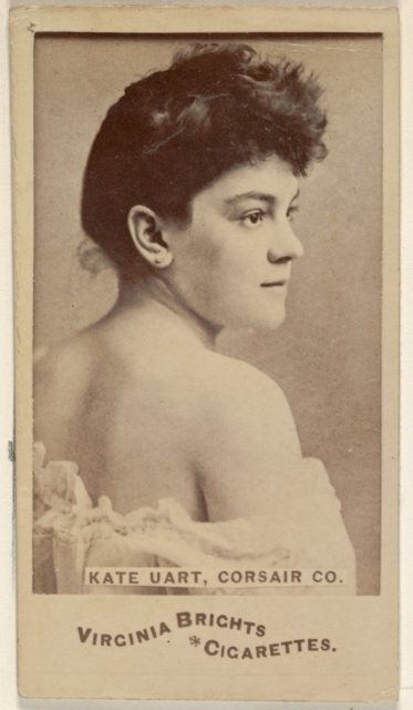 Kate Uart, Corsair Co., from the Actors and Actresses series (N45, Type 6) for Virginia Brights Cigarettes