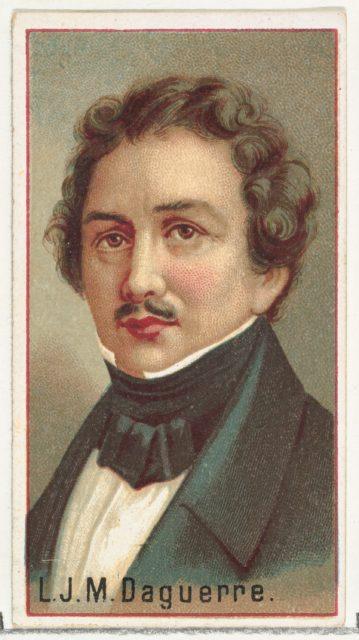 L. J. M. Daguerre, printer's sample for the World's Inventors souvenir album (A25) for Allen & Ginter Cigarettes