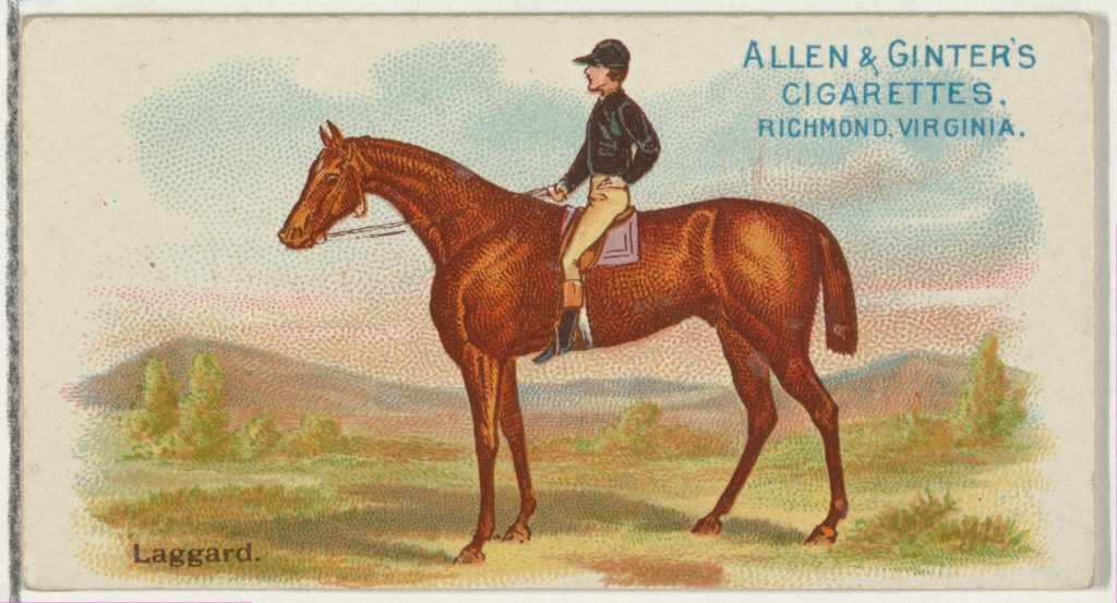 Laggard, from The World's Racers series (N32) for Allen & Ginter Cigarettes