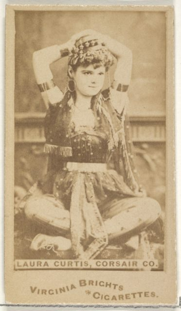 Laura Curtis, Corsair Co., from the Actors and Actresses series (N45, Type 1) for Virginia Brights Cigarettes