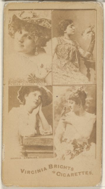 Lea D' Ascot, Paris/ Jane Hading, Paris/ Depoix, Gymnase, from the Actors and Actresses series (N45, Type 4) for Virginia Brights Cigarettes