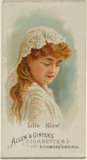 Lilia Blow, from World's Beauties, Series 1 (N26) for Allen & Ginter Cigarettes
