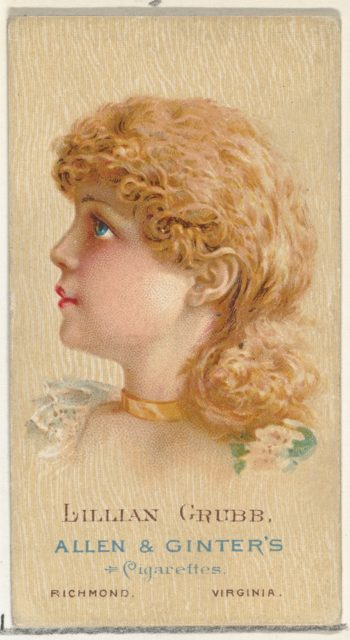 Lillian Grubb, from World's Beauties, Series 2 (N27) for Allen & Ginter Cigarettes