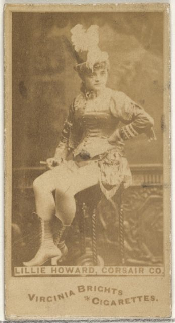Lillie Howard, Corsair Co., from the Actors and Actresses series (N45, Type 1) for Virginia Brights Cigarettes