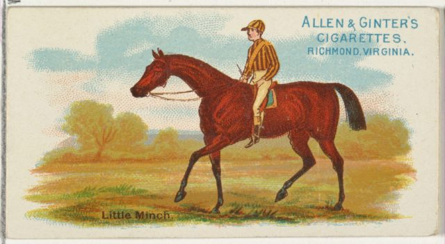 Little Minch, from The World's Racers series (N32) for Allen & Ginter Cigarettes