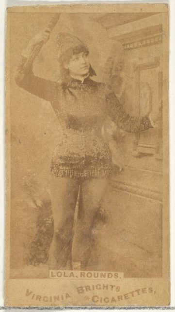 Lola Rounds, from the Actors and Actresses series (N45, Type 1) for Virginia Brights Cigarettes