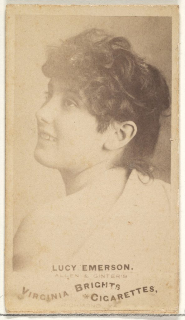 Lucy Emerson, from the Actors and Actresses series (N45, Type 1) for Virginia Brights Cigarettes