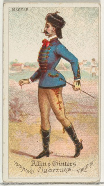 Magyar, from World's Dudes series (N31) for Allen & Ginter Cigarettes