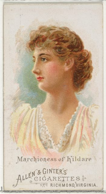 Marchioness of Kildare, from World's Beauties, Series 1 (N26) for Allen & Ginter Cigarettes
