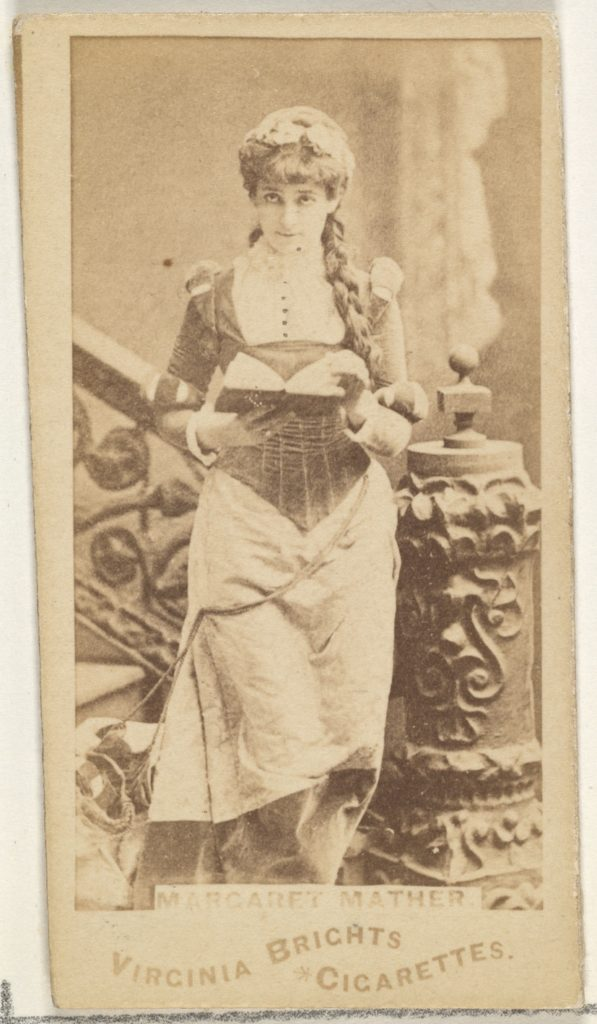 Margaret Mather, from the Actors and Actresses series (N45, Type 1) for Virginia Brights Cigarettes