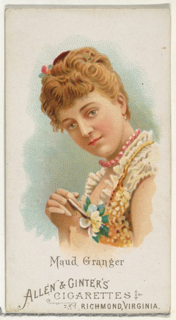 Maud Granger, from World's Beauties, Series 1 (N26) for Allen & Ginter Cigarettes