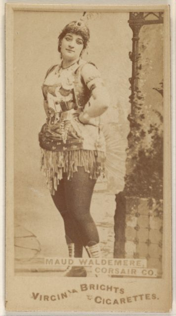 Maud Waldemere, Corsair Co., from the Actors and Actresses series (N45, Type 1) for Virginia Brights Cigarettes