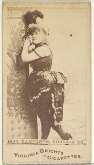 May Danforth, Corsair Co., from the Actors and Actresses series (N45, Type 1) for Virginia Brights Cigarettes